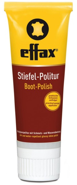 Effax® Stiefel-Politur 75ml, schwarz, Hochglanzpolitur mit Schmutz- und Wasserabweisung