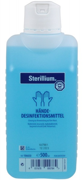 Sterillium® Händedesinfektionsmittel, 500ml Flasche, Desinfektionsmittel zum Einreiben