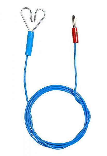 Zaunanschlusskabel 100cm, mit Herz & Stecker, zur Verbindung von Weidezaungerät und Elektrozaun