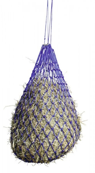 Heunetz engmaschig 5x5cm, blau, Futternetz für Pferde