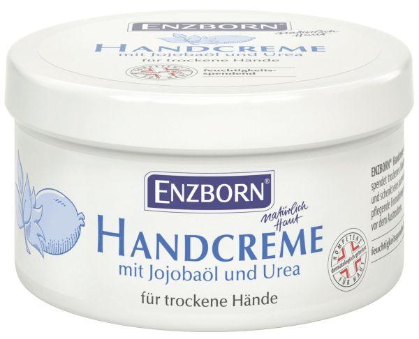 Enzborn® Handcreme 250ml Dose, Feuchtigkeitscreme mit Jojobaöl und Urea