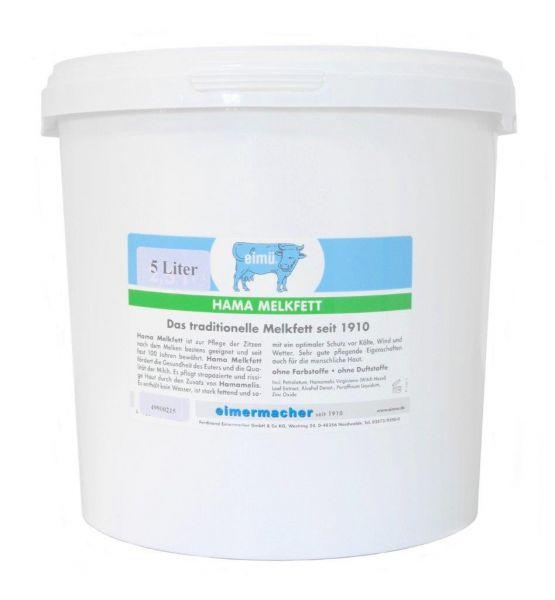 eimü® Hama-Melkfett 5 Liter Eimer, mit Hamamelis für die Euterpflege bei Rindern und Kühen