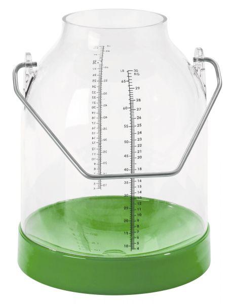 Melkeimer Kunststoff, 30 Liter, Grün, mit doppelter Skala, passend für alle gängigen Melkanlagen