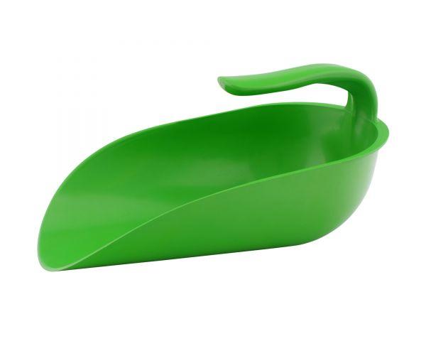 GEWA Futterschaufel 2kg mit Innengriff, grün, Schaufel für Futtersäcke und Eimer