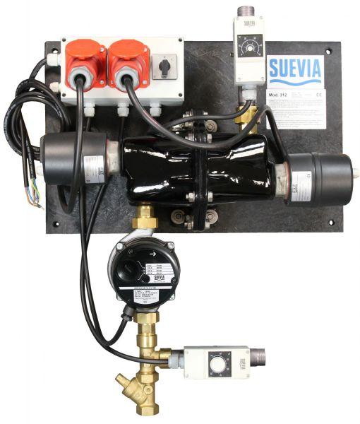 Suevia Heizgerät Mod. 312 (6000W, 400V) mit Rücklauftemperatur-Steuerung - 101.0312