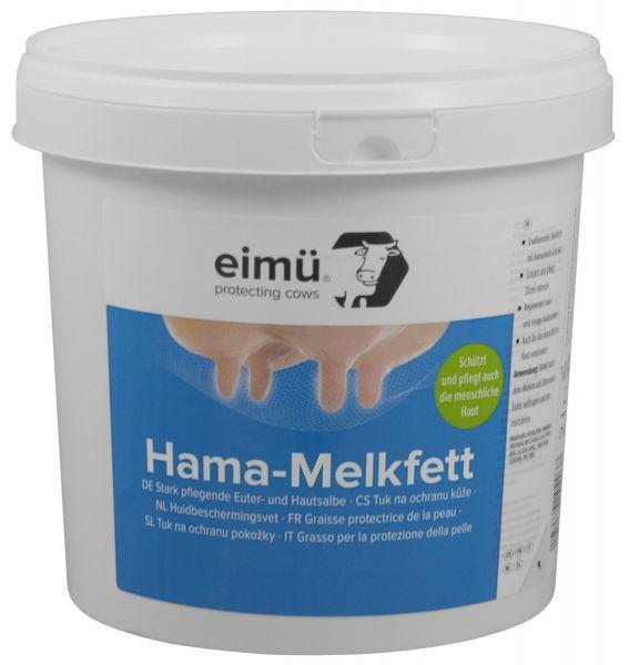 eimü® Hama-Melkfett 2,5 Liter Eimer, mit Hamamelis für die Euterpflege bei Rindern und Kühen