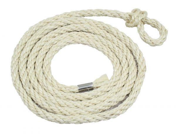 10x Kälberstrick Sisal, Ø10mm, 200cm, kleine Schlaufe, Sisalstrick für Kälber