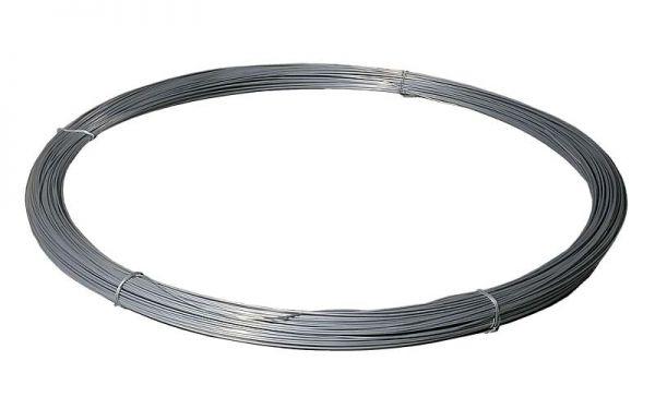 hadra® Stahldraht 280m, 3,8mm, 25kg, verzinkt, Glattdraht für lange Festzaunanlagen