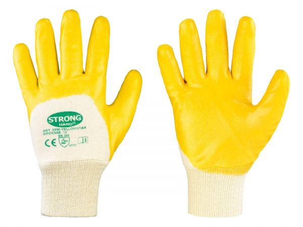 Nitril-Handschuhe YELLOW Größe 9 (L), Arbeitshandschuhe mit Nitril-Beschichtung