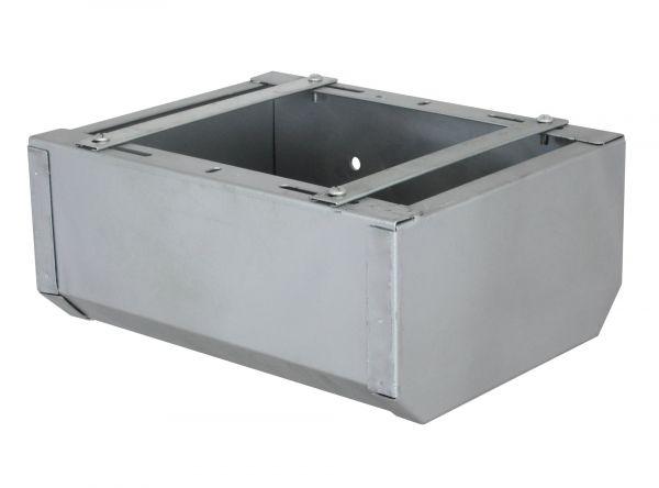 Fohlentrog verzinkt, 31x24x14cm, Futtertrog für Fohlen mit verstellbaren Streben