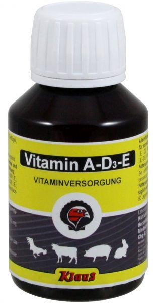 Vitamin AD3E 100ml, flüssiges Ergänzungsfuttermittel für Geflügel, Rinder und Schweine