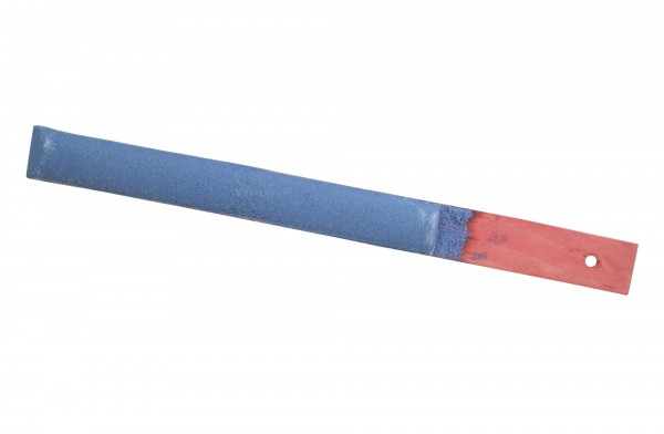 Batavia Wetzstreicher 40cm, rot-blau, mit Holzgriff, Sensenstreicher, Sensenschärfer