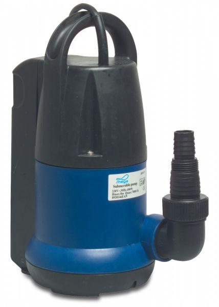 PP-Kunststoff- Tauchpumpe Typ Q40011, IP68 (230V, 0,45kW), zur Förderung von sauberem Kaltwasser
