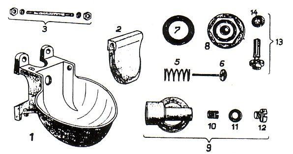 CAROLA Ventilkegel mit Dichtung für Tränkebecken 58 - Ersatzteil Nr.13
