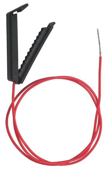 Clip Band-Anschlusskabel 100cm, mit Kunststoffklemme, Verbindung von Weidezaungerät und Elektrozaun