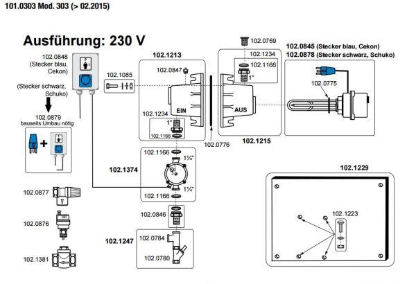 Suevia Rückschlagklappe für Heizgeräte Mod. 300, 303, 317 - 102.1381