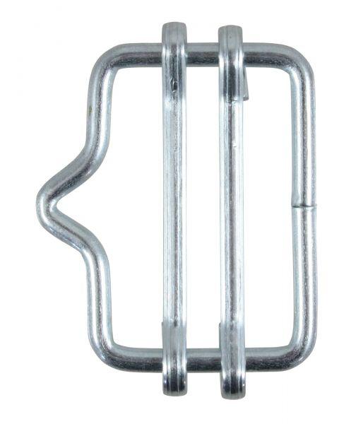 5x Bandverbinder bis 20mm, verzinkt, mit Nase, Verbindungsschnalle für Weidezaunbänder