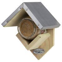Esschert Design Erdnussbutterhaus, Vogelfutterhaus, Futterstation für Vögel, FB213