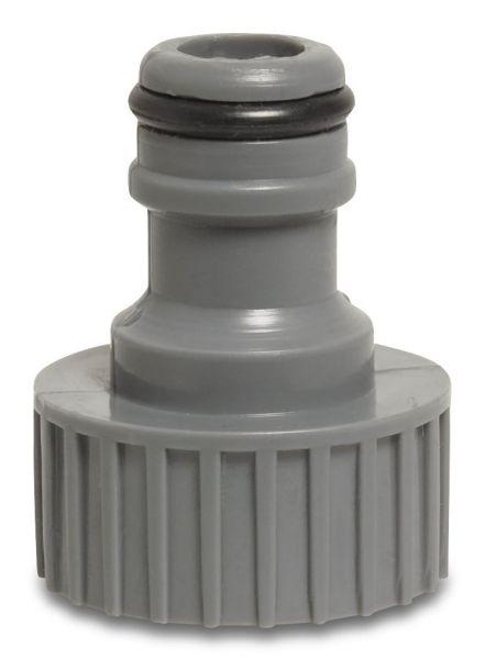 Hydro-Fit Hahnanschluss PVC, 1 Zoll Innengewinde, Klickanschluss, für Gartenschläuche