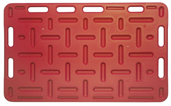 Schweine-Treibbrett 126x76cm, Rot, Treibhilfe für Schweine