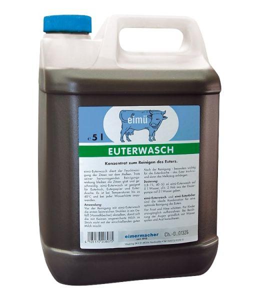 eimü® Euterwasch 5 Liter Kanister, jodhaltiges Konzentrat zur Feuchtreinigung des Euters