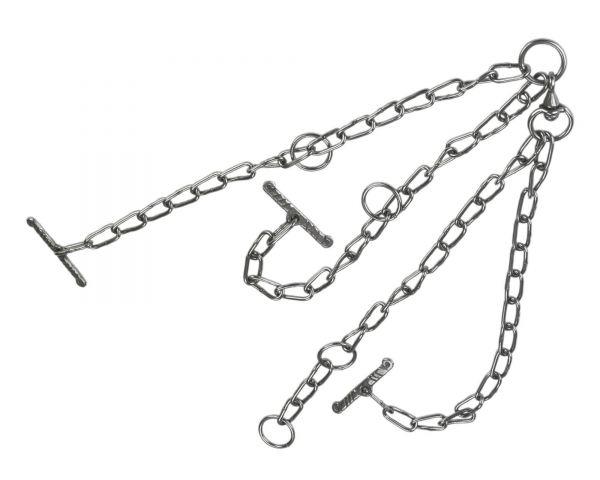 Kuhkette 7mm mit Wirbel, doppelt verlängert, Kette zur Viehanbindung
