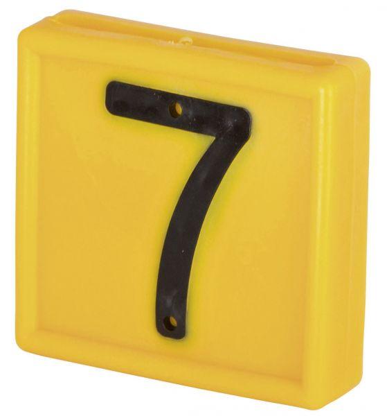 Nummernblock Standard, gelb, Block-Nummer: 7 (SIEBEN)