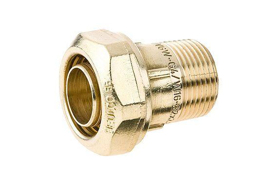 BEULCO Verschraubung 1/2 Zoll AG, 20x1,9mm, Übergangsstück, Klemmverbinder mit festem Stützrohr