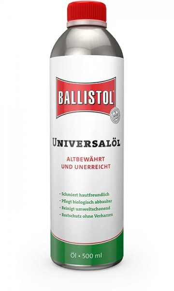 Ballistol® Universalöl 500ml Flasche, bewährtes Spezialmittel, Multifunktionsöl, Pflegeöl