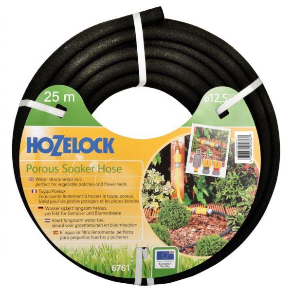 Hozelock Schwitzschlauch 1/2 Zoll, 25m, Sickerschlauch für Gemüse- und Blumenbeete, Hecken