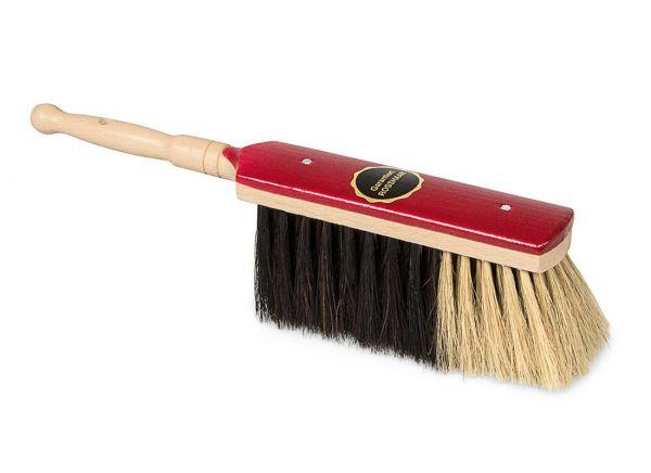 Stubenhandfeger 30cm, Rosshaar, lackiertes Buchenholz, für feinen Schmutz und Staub