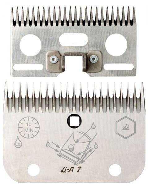 Lister Schermessersatz LI A7 mit 19+21 Zähnen, für stark verschmutzte Rinder