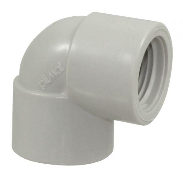 Winkel 90° PP, beidseitig 1/2 Zoll IG, PP-Winkel für Fittingrohre
