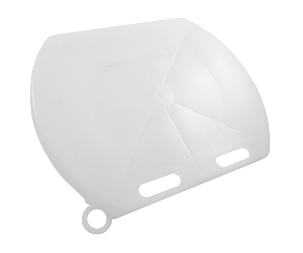 GEWA Deckel für Kälbereimer TRANSPARENT, verhindert Verschmutzen und Abkühlen der Kälbermilch