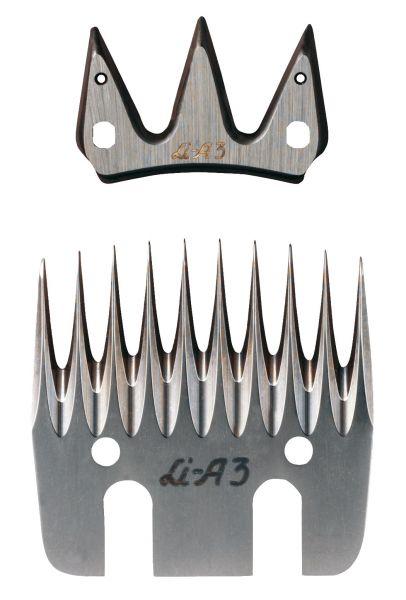 Lister Schermessersatz LI A3 mit 3+10 Zähnen, Standardmessersatz für die Schafschur
