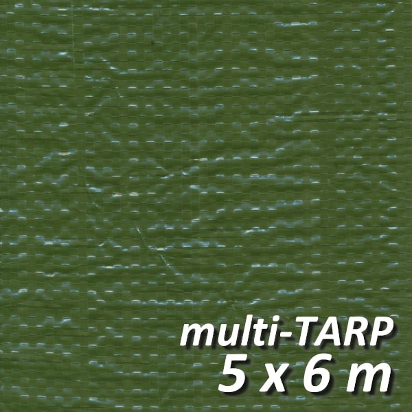 Lankotex® multi-TARP Standard 5x6m grün, Schutz- und Abdeckplane mit Aluminiumösen, HDPE / LDPE