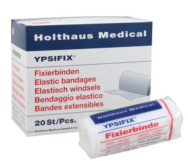 YPSIFIX Fixierbinde, 10cm x 4m, mit hoher Dehnung zur Fixierung von Wundauflagen an Gelenken