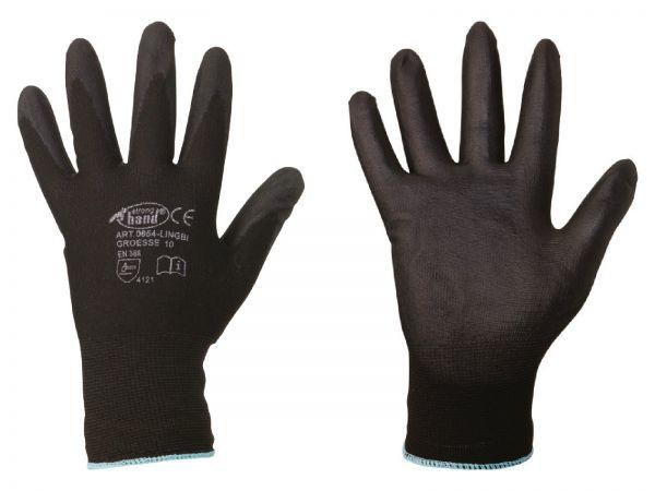 Feinstrick-Handschuhe Größe 10 (XL), mit PU-Beschichtung