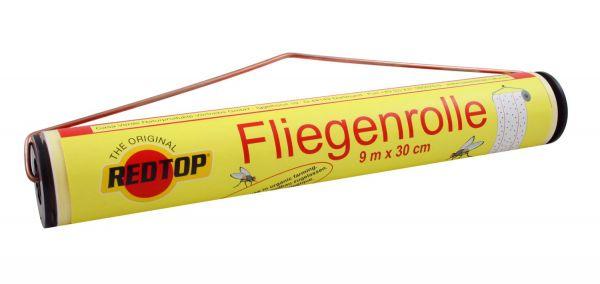 RedTop® Fliegenrolle 9m, Fliegenfänger zur Bekämpfung von Fliegen und Insekten im Stall