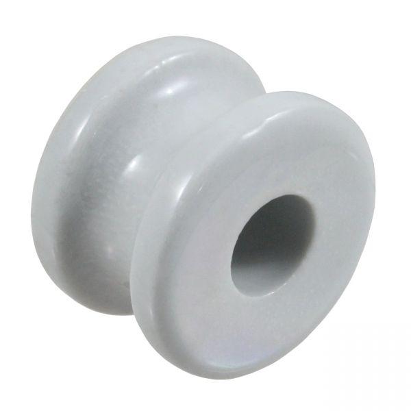 10x Porzellan-Eckrolle KOMPAKT, kleine Ausführung, Eckisolator aus Porzellen für Stahldraht