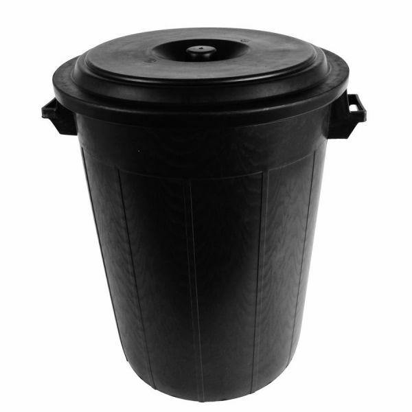 Universaltonne 100 Liter, Ø54x69cm, Kunststoff, schwarz, Futtertonne, Mülltonne, Regentonne