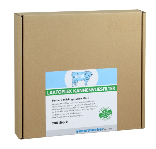 200x eimü® Laktoplex Kannenvliesfilter Ø220mm, für Filterseihen und Melkanlagen ohne Druck