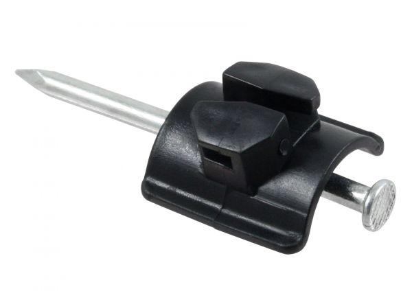 50x Nagelisolator, kompakte Ausführung mit Stahlnagel, für Weidezaunlitze und -draht