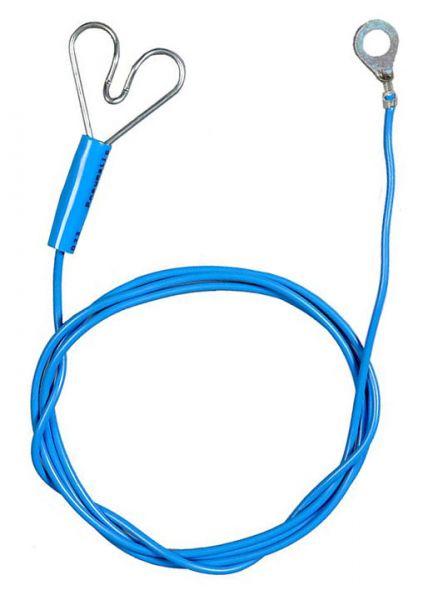 Zaunanschlusskabel 100cm, mit Herzklemme & Öse, zur Verbindung von Weidezaungerät und Elektrozaun