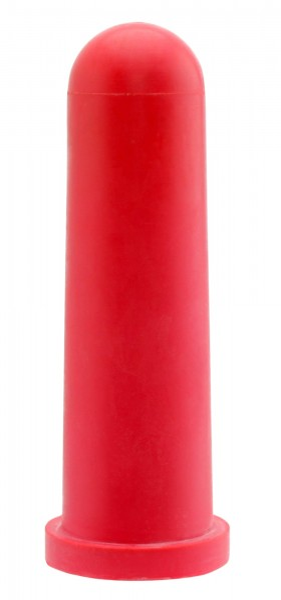 5x GEWA Kälbersauger, konisch, rot, 10cm, Rundloch, Sauger für den Einsatz an Tränkeautomaten