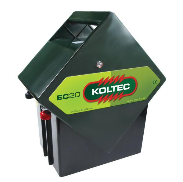 Koltec Weidezaungerät EC20 - 9V + 12V Batteriegerät für mobile Weidezäune