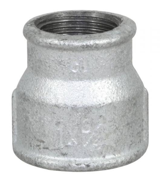 Temperguss Reduziermuffe, 1 1/4 x 1/1 Zoll, IG-IG, beidseitig mit Innengewinde, Nr. 240