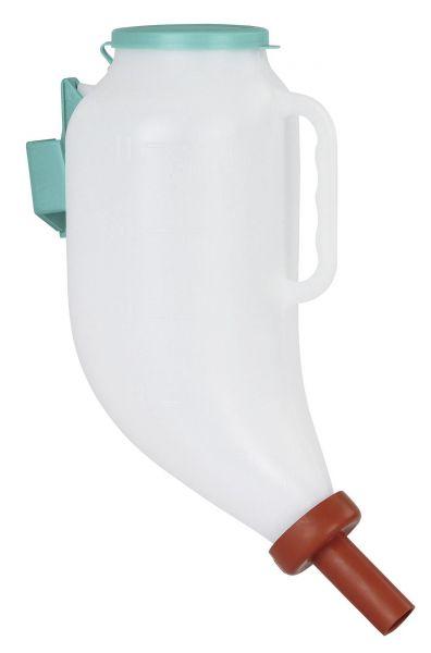 Trockenfutterflasche 4 Liter, Körnerflasche, Pelletflasche für Kälber mit Sauger