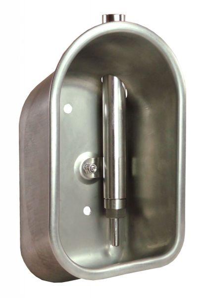 Suevia Edelstahl-Tränke Mod. 72 mit 1/2 Zoll Edelstahl-Ventil für Ferkel - 100.0728