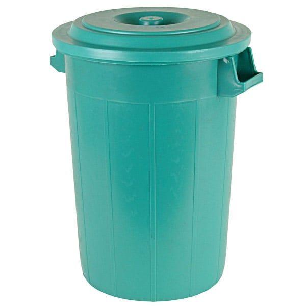 Universaltonne 70 Liter, Ø48x63cm, Kunststoff, grün, Futtertonne, Mülltonne, Regentonne